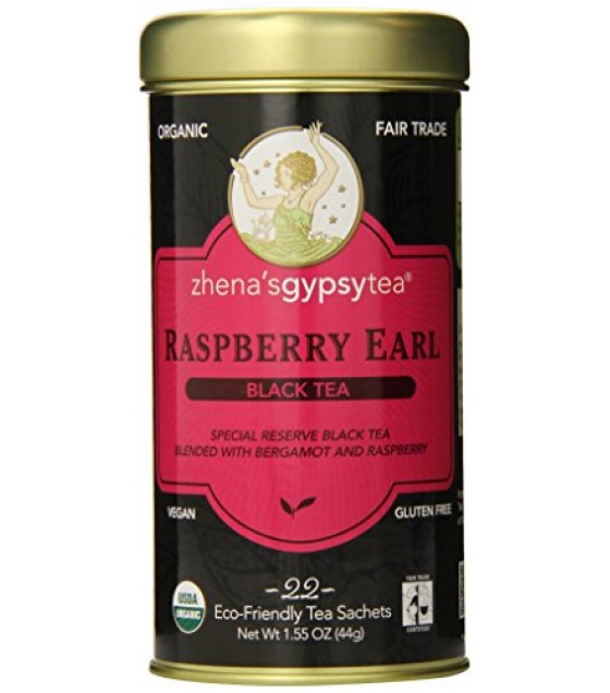 [Zhena`S Gypsy Tea] Tea Bags Raspberry Earl  At least 95% Organic
