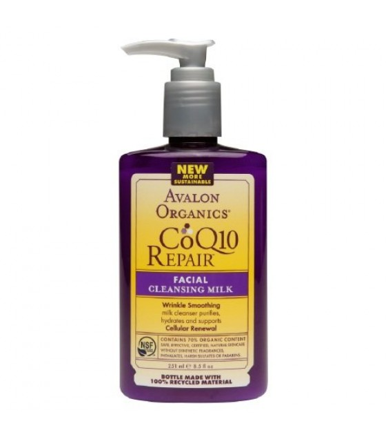[Avalon Organics] Wrinkle Therapy with CoQ10 & Rosehip Cleansing Milk