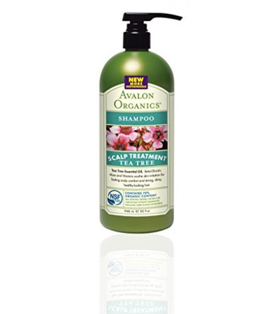 [Avalon Organics] Value Size Shampoo, Tea Tree Scalp Treatment  At least 70% Organic