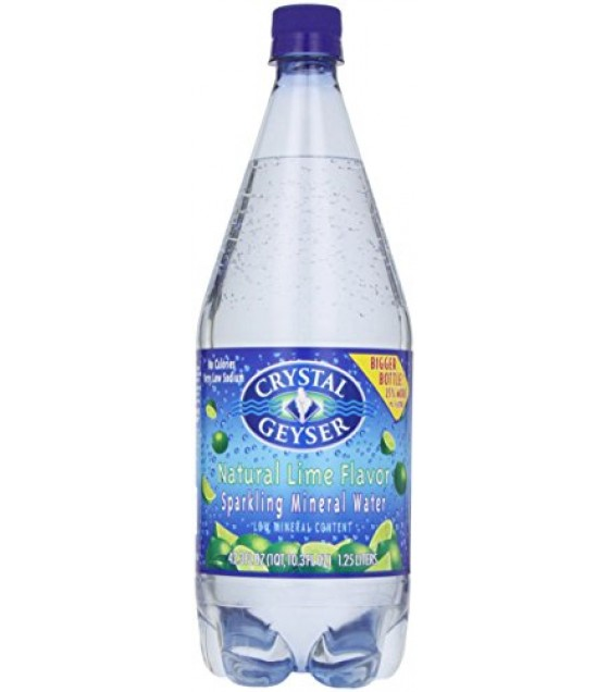[Crystal Geyser] Mineral Water, Liter Lime