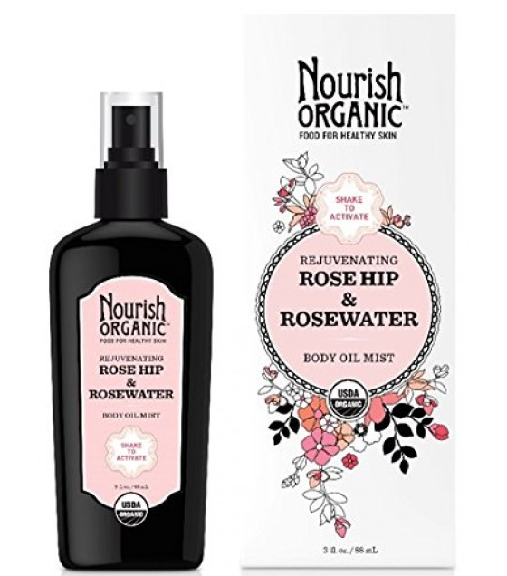 [Nourish] Multi-Purpose Oil Rejuv.Rosehip/Rosewtr Bdy Oil Mist  At least 95% Organic