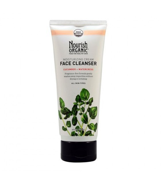 [Nourish] Face Cleanser Cream, Cucumber/Watercress  At least 95% Organic