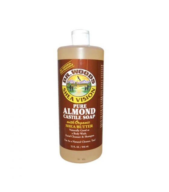 [Dr. Woods Soaps] Castile Soaps Almond w/Shea Butter