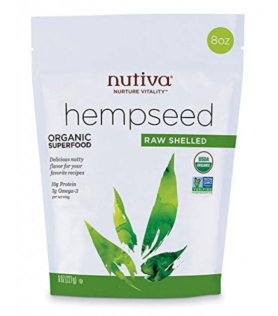 [Nutiva] Hempseed Products Hempseeds, Shelled, Pouch  At least 95% Organic