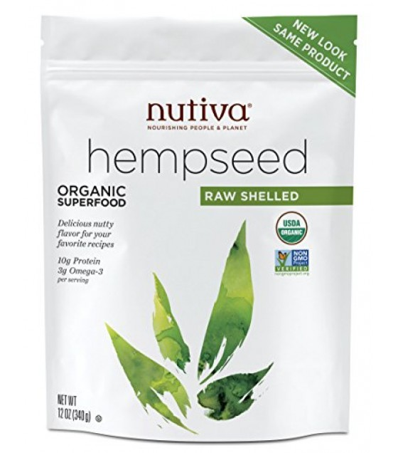 [Nutiva] Hempseed Products Shelled Hempseed In Pouch  At least 95% Organic