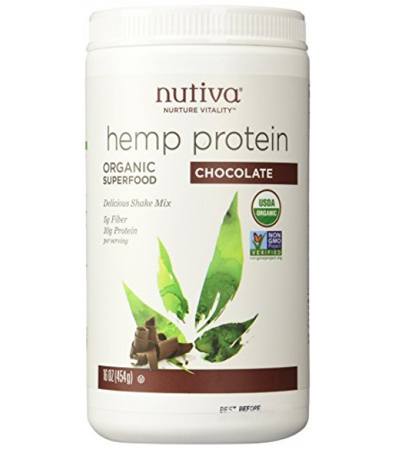 [Nutiva] Hempseed Products Chocolate Hemp Shake  At least 95% Organic