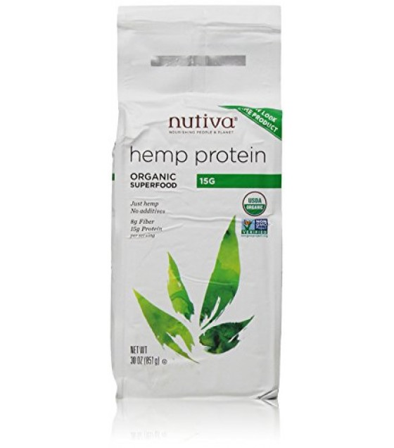 [Nutiva] Hempseed Products Hemp Protein Powder, 15g/Serv  At least 95% Organic