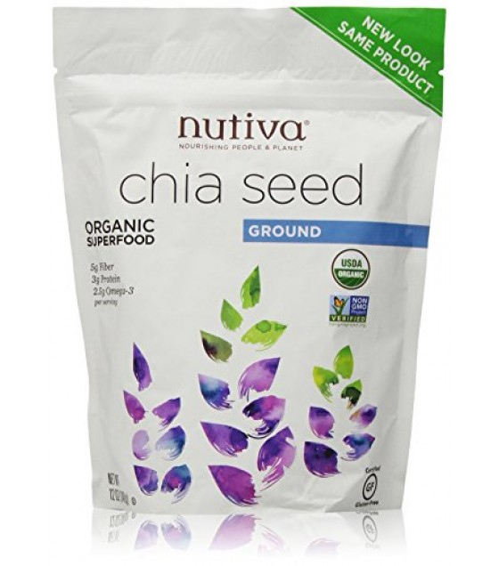 [Nutiva] Seeds Chia, Ground Black  At least 95% Organic