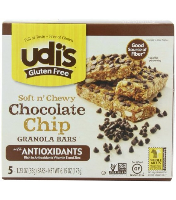 [Udi`S Granola] Soft N` Chewy, Granola Bars Chocolate Chip