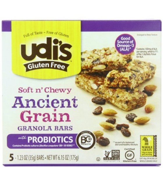 [Udi`S Granola] Soft N` Chewy, Granola Bars Ancient Grain W/Probiotics