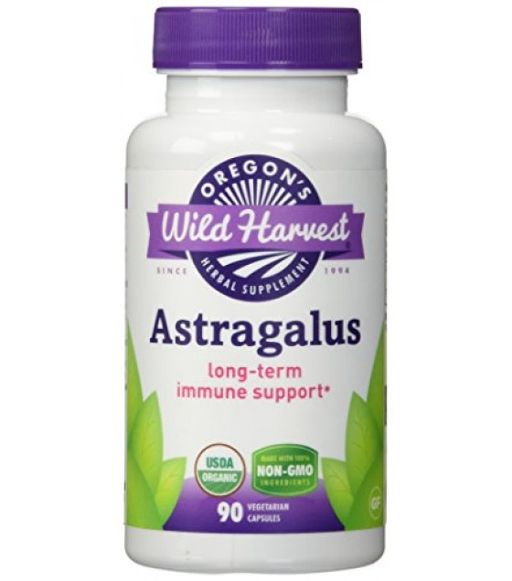 [Oregon`S Wild Harvest] Single Encapsulated Herbs, Non-GMO Astragalus  At least 70% Organic