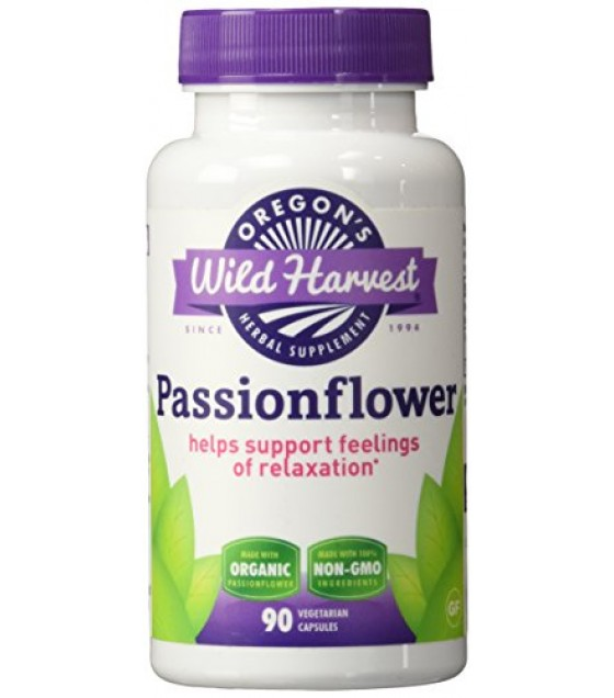 [Oregon`S Wild Harvest] Single Herb Extracts Passionflower  At least 70% Organic