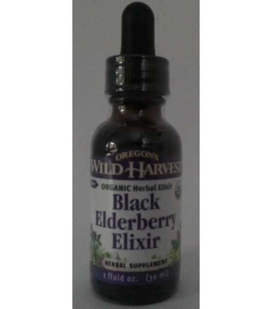 [Oregon`S Wild Harvest] Single Herb Extracts Extract, Blk Elderberry Elixir  At least 95% Organic