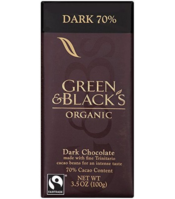 [Green & Black`S] Chocolate Bars Dark, 70% Cocoa  At least 95% Organic