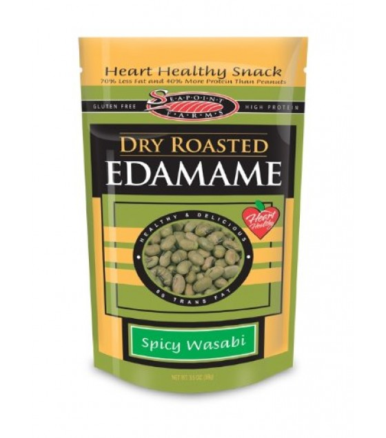 [Seapoint Farms] Edamame, Ready to Eat Dry Roasted, Wasabi