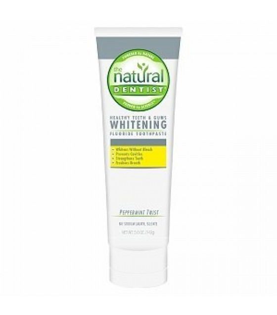 [Natural Dentist] Toothpaste Whitening Plus, Peppermint Twist