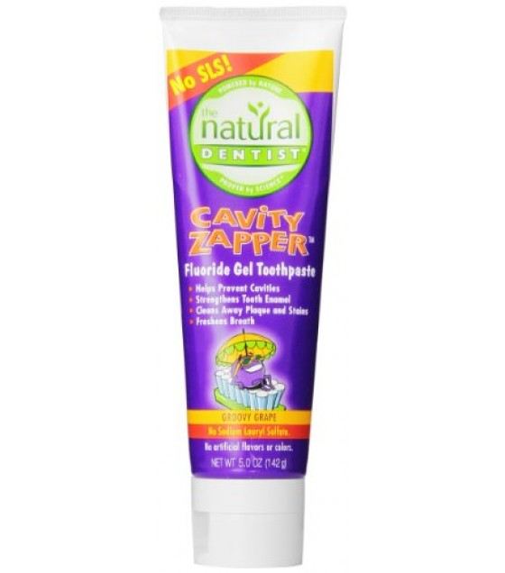 [Natural Dentist] Toothpaste Kids Cavity Buster, Glittery Grape