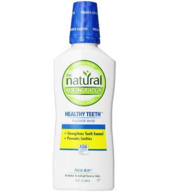 [Natural Dentist] Mouthwash Healthy Teeth Fluoride, Fresh Mint