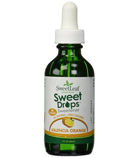 [Sweet Leaf] Liquid Stevia Sweetner, Sweet Drops SteviaClear, Valencia Orange