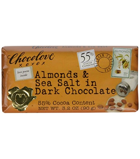 [Chocolove] Chocolate Bars Dark Choc w/Almonds & Sea Salt