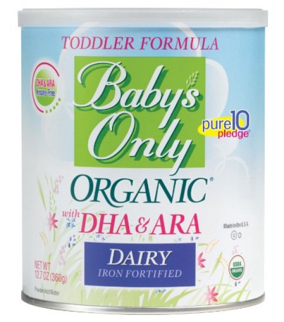 [Babys Only Organic] Toddler Formula Dairy W/DHA, ARA Iron Formula  At least 95% Organic