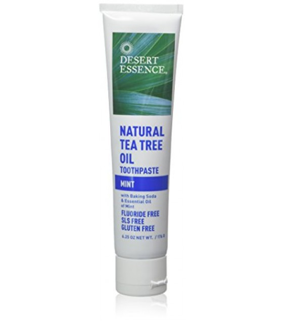 [Desert Essence] Oral Care Toothpaste, Tea Tree w/Mint