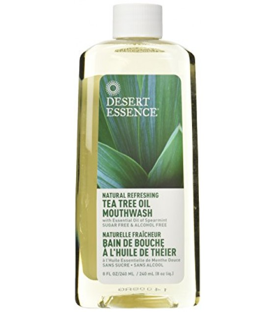 [Desert Essence] Oral Care Mouthwash, Tea Tree Oil