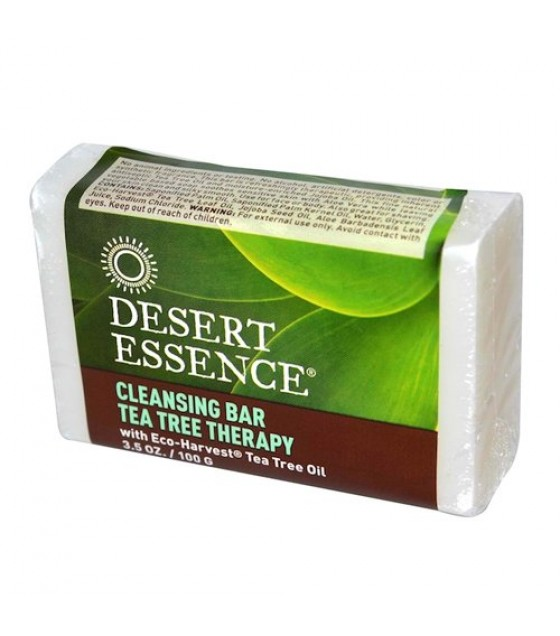 [Desert Essence] Bar Soap Cleansing, Tea Tree Therapy