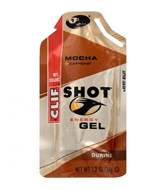[Clif Bars] Clif Shot Mocha w/ 50mg Caffeine  At least 70% Organic