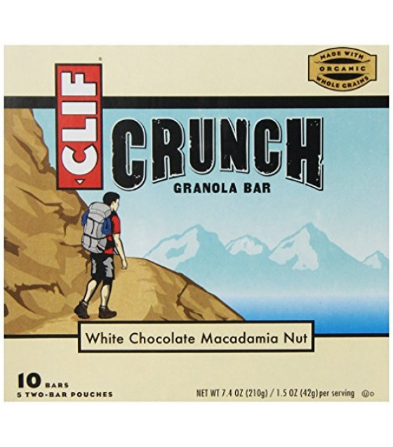[Clif Bars] Crunch Granola Bars White Chocolate Macadamia Nut  At least 70% Organic