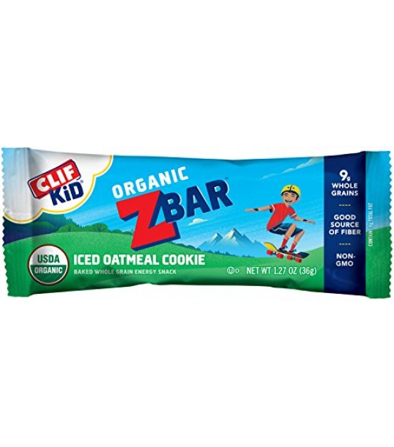 [Clif Bars] ZBars Iced Oatmeal Cookie  At least 95% Organic