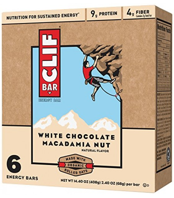 [Clif Bars] Clif Bars - 100% Natural Nutrition Bars White Chocolate Macadamia  At least 70% Organic