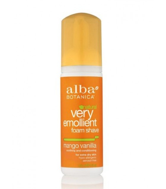 [Alba Botanica] Moisturizing Cream Shave for Men & Women Mango Vanilla, Foam