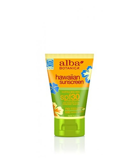[Alba Botanica] Hawaiian Sun Care Sunscreen, Aloe Vera SPF 30