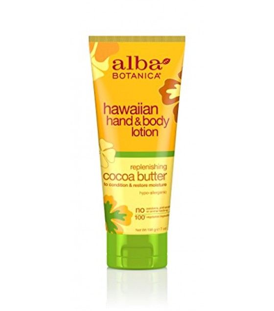 [Alba Botanica] Hawaiian Spa Treatment Cocoa Butter Hand & Body Lotion