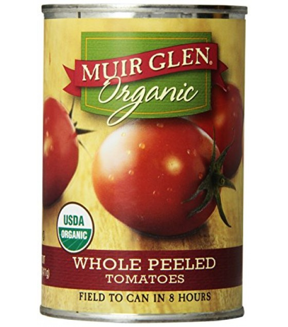 [Muir Glen] Whole Peeled Tomatoes Whole  At least 95% Organic
