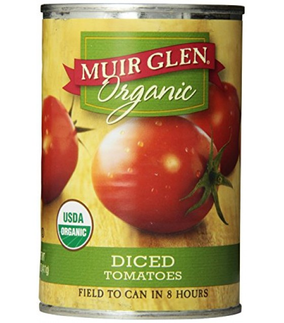 [Muir Glen] Diced Tomatoes Plain  At least 95% Organic