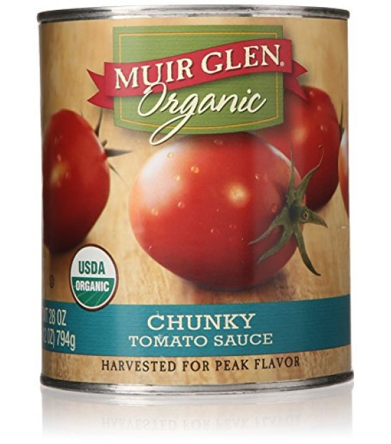 [Muir Glen] Canned Tomatoes Sauce, Chunky  At least 95% Organic