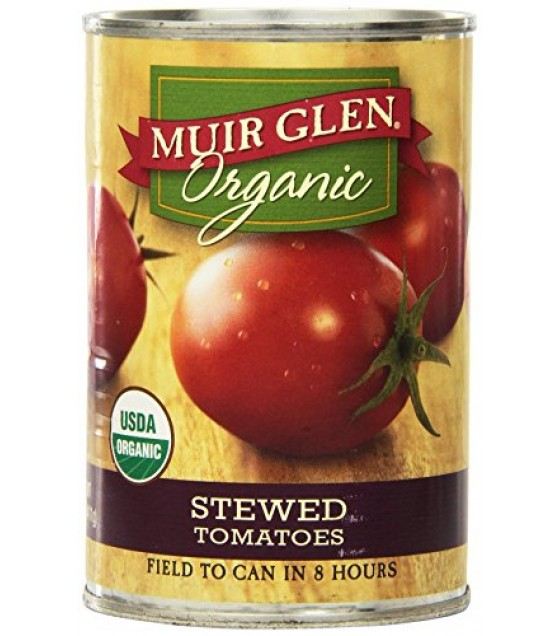 [Muir Glen] Stewed Tomatoes Original  At least 95% Organic