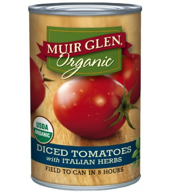 [Muir Glen] Diced Tomatoes Italian  At least 95% Organic