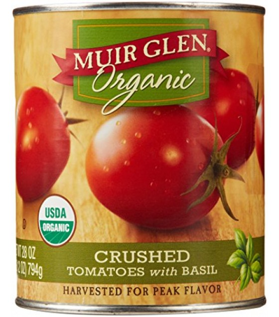 [Muir Glen] Canned Tomatoes Crushed w/Basil  At least 95% Organic