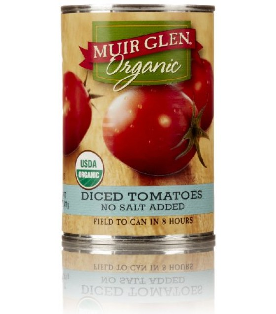 [Muir Glen] Diced Tomatoes No Salt  At least 95% Organic
