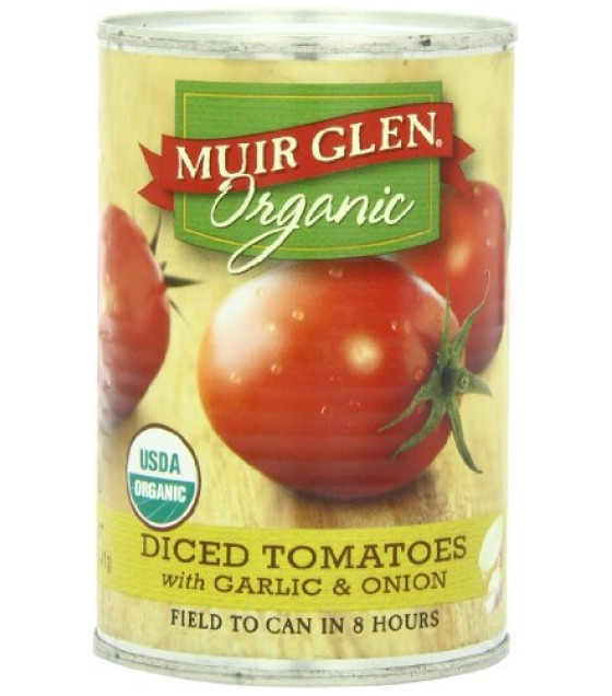 [Muir Glen] Diced Tomatoes Garlic & Onion  At least 95% Organic