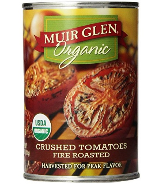 [Muir Glen] Fire Roasted Tomatoes Crushed  At least 95% Organic