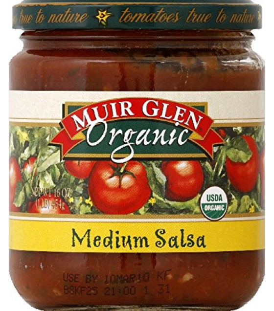 [Muir Glen] Fat Free Salsa Medium  At least 95% Organic