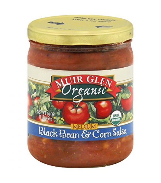 [Muir Glen] Fat Free Salsa Black Bean & Corn, Medium  At least 95% Organic