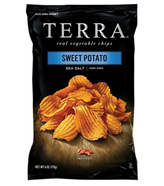 [Terra Chips] Sweet Potato Chips Sea Salt, Krinkle Cut