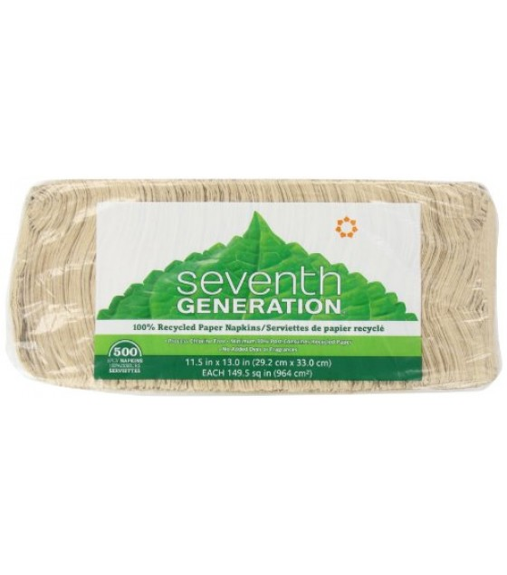 [Seventh Generation] 100% Recycled Paper Products Napkins, Lunch Nat Jmbo Pk