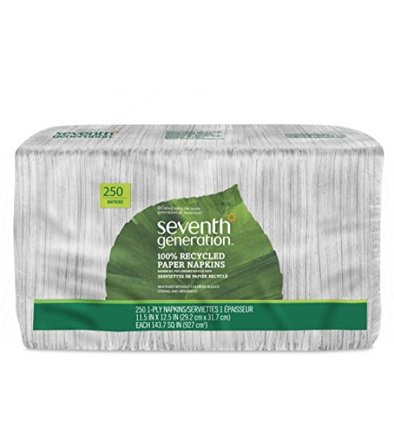 [Seventh Generation] 100% Recycled Paper Products Napkins, White
