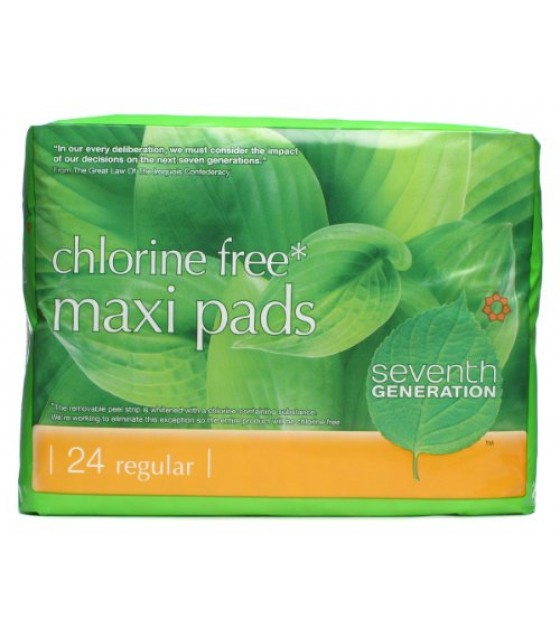 [Seventh Generation] Feminine Hygiene Products Maxi Pads, Regular
